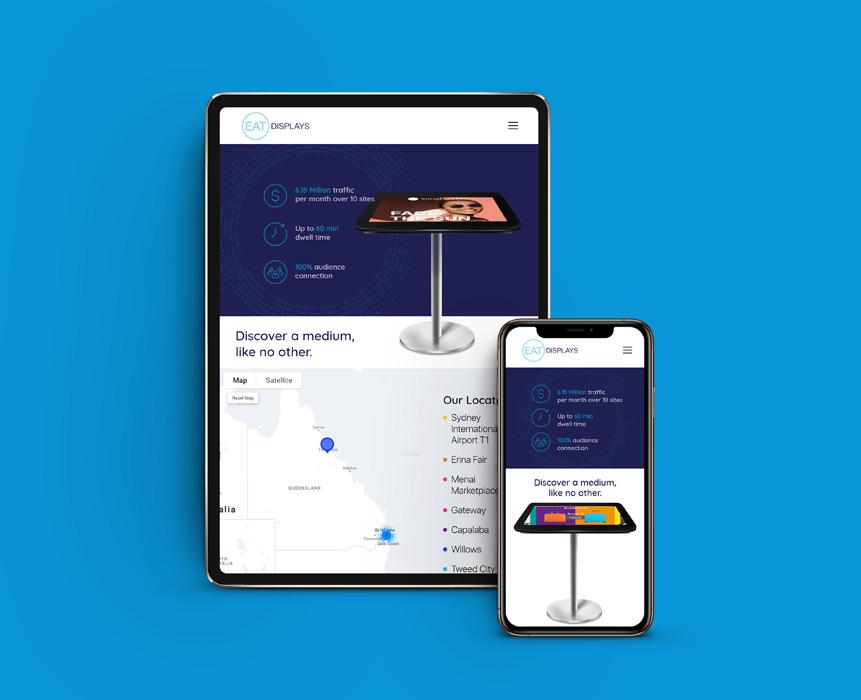 EAT Displays Web design