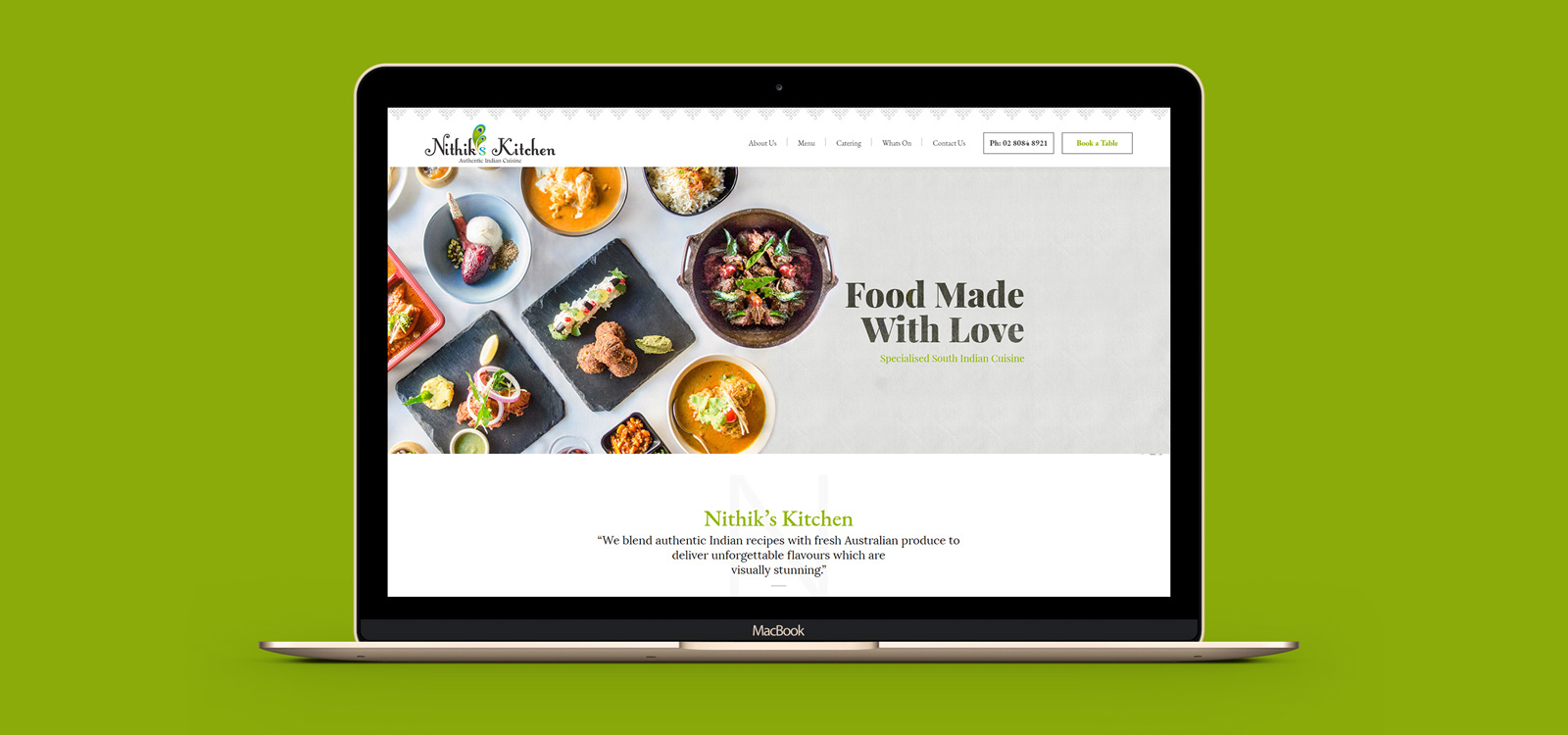 Nithiks Kitchen Website Design Development