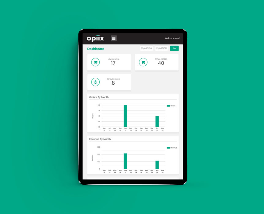 Opiix web application development