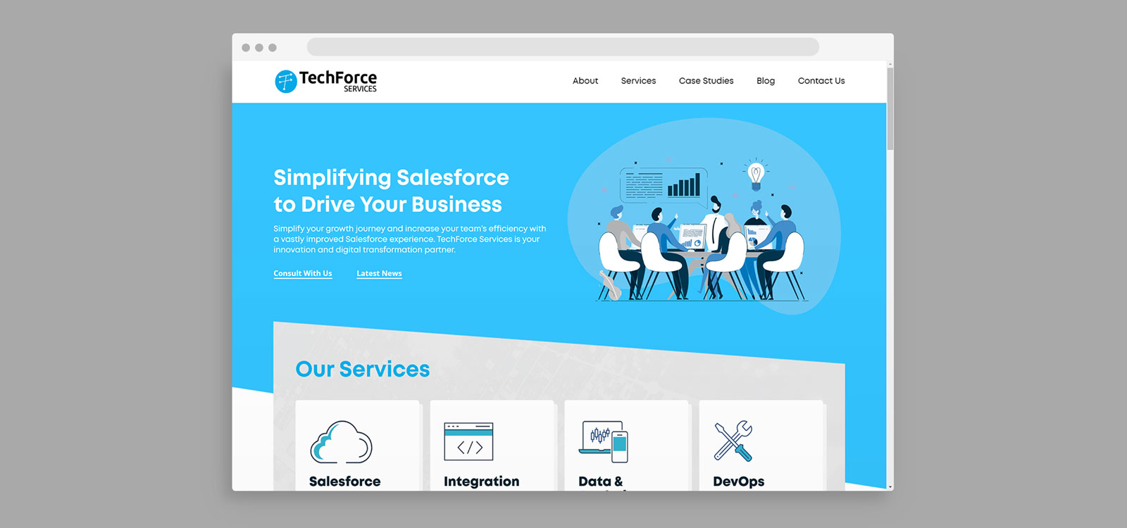 TechForce Web design