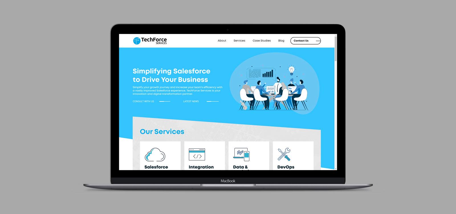 TechForce Website design