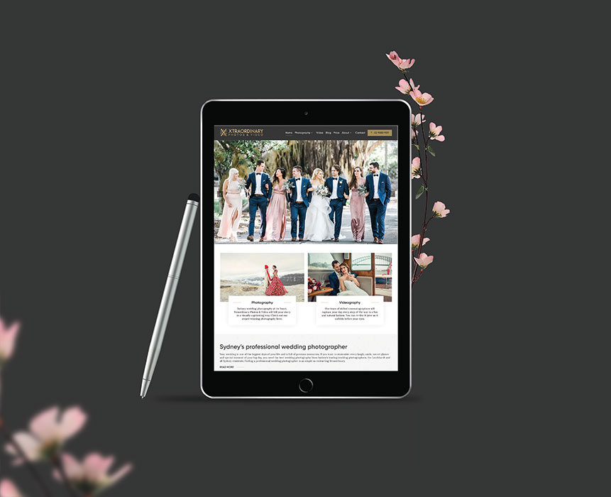 Web design for wedding Xtraordinary Photos Video