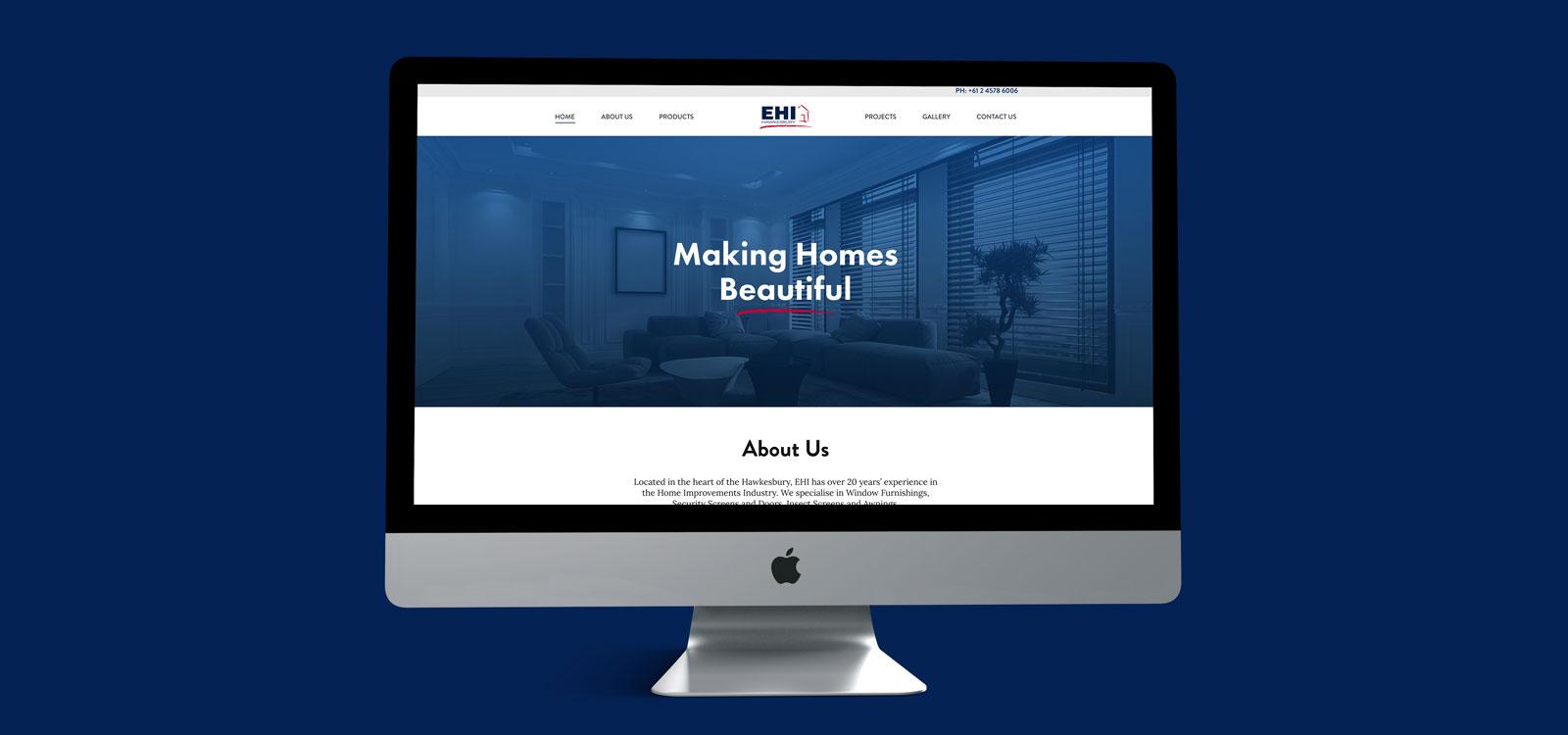 Web designing for EHI Hawkesbury