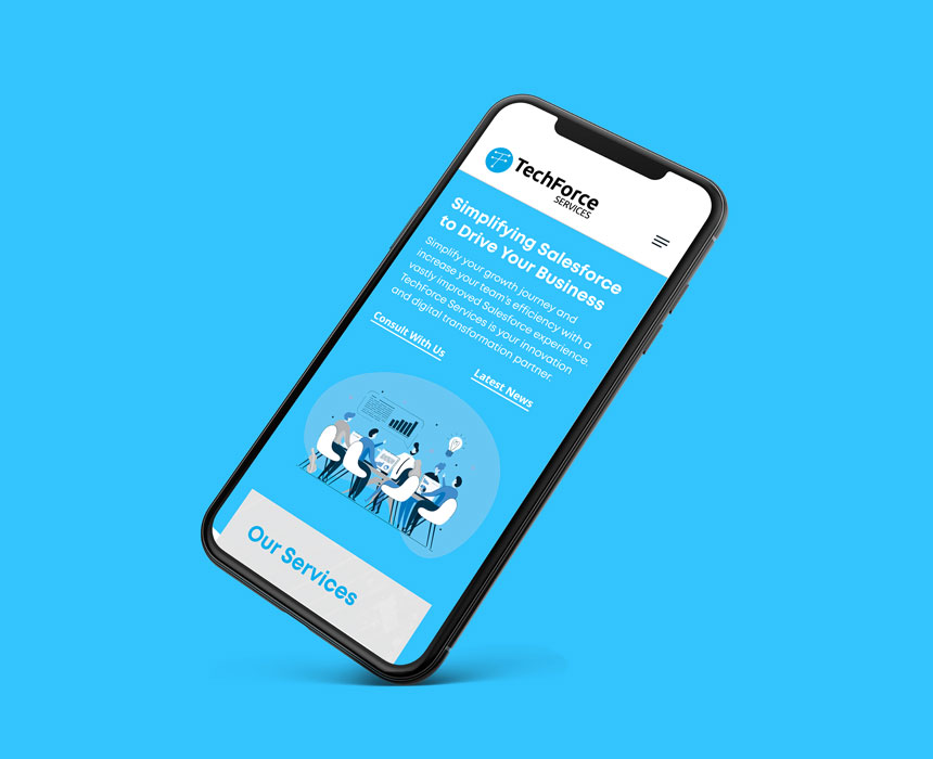 Website design for TechForce