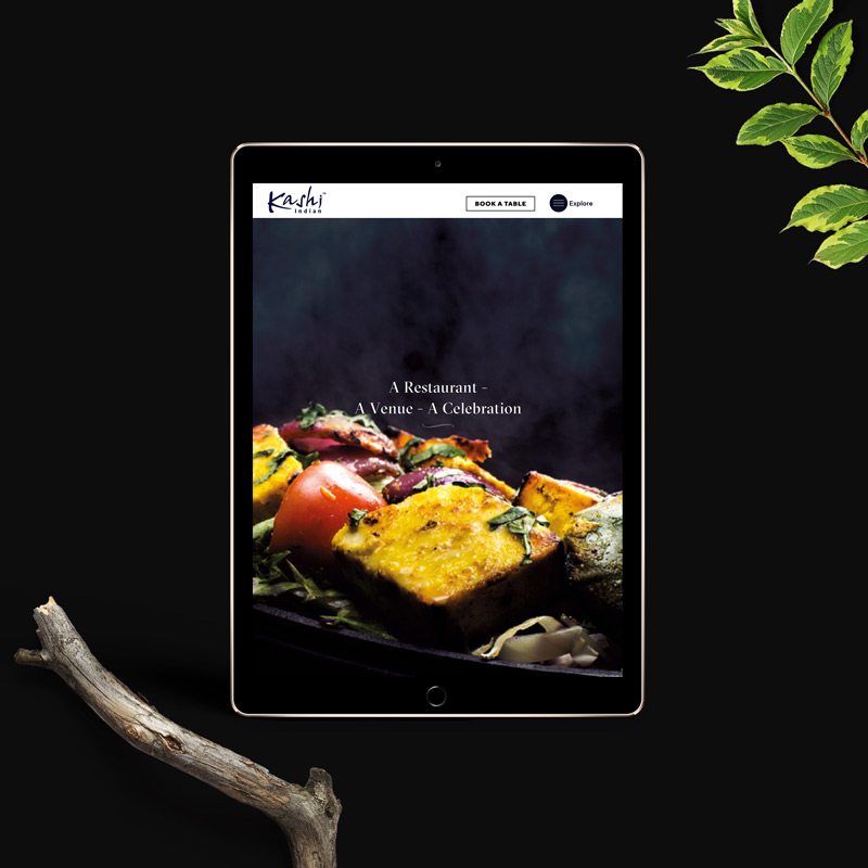 Website design for kashiindian restaurant