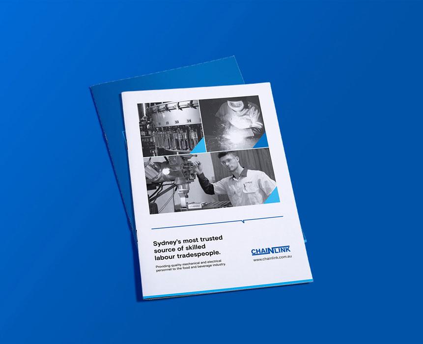 brochure design for chainlink