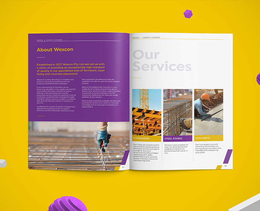 brochure design for wexcon