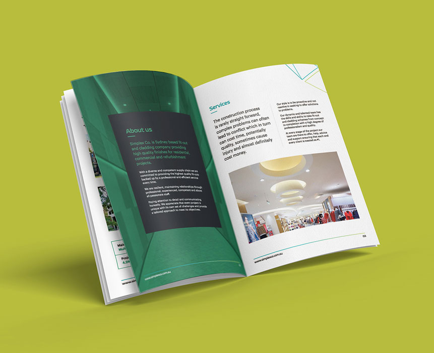 brochure inner design for simplex co