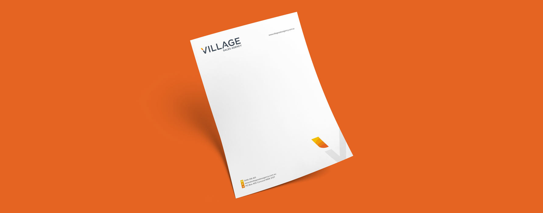 graphic design for village sale agency