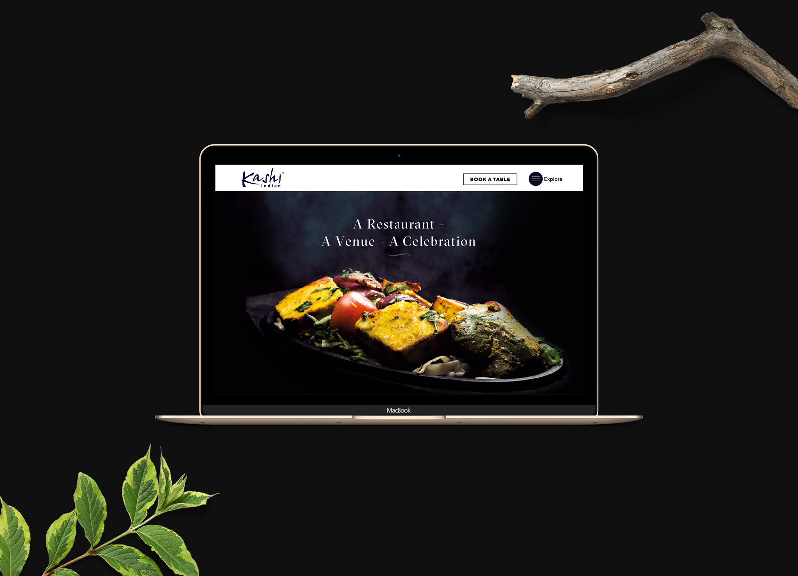 kashi indian restaurant Website design