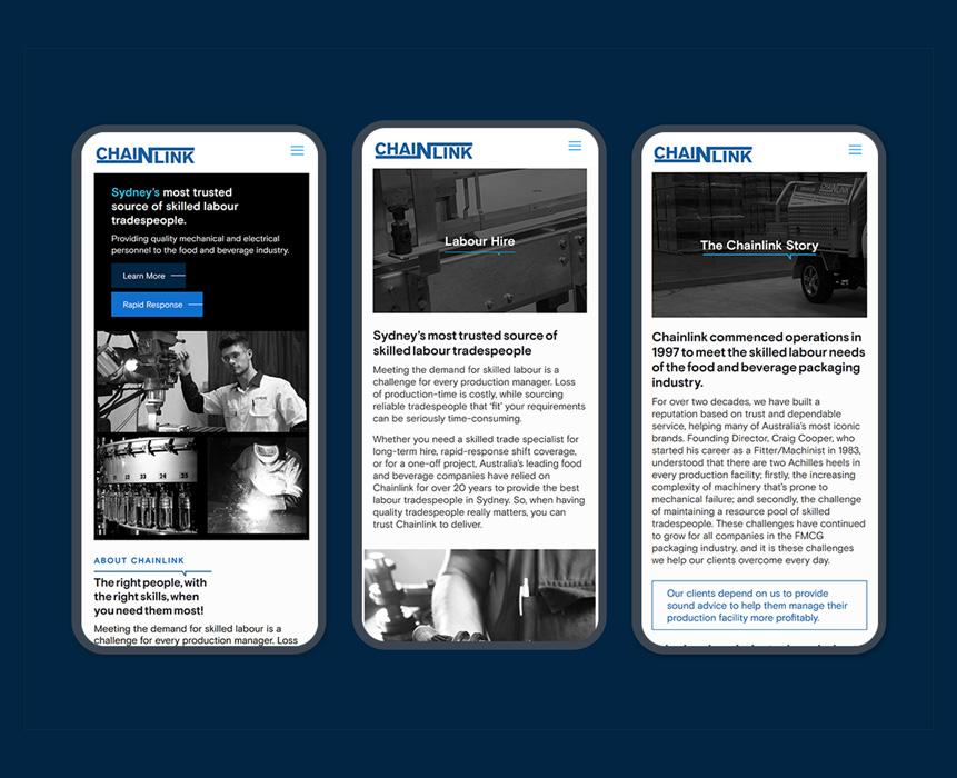 Web design for chanlink