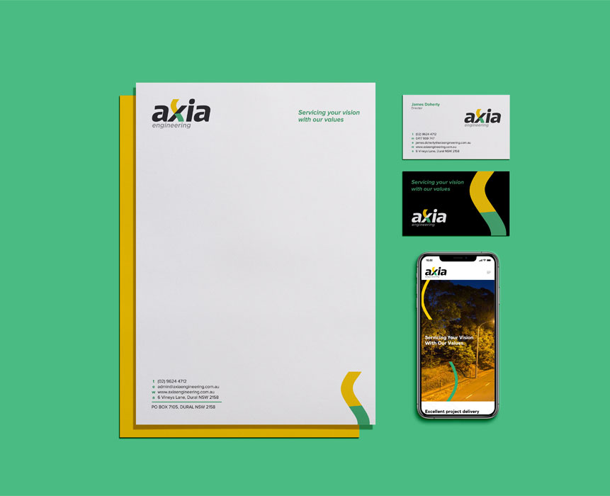 Graphic design for axia
