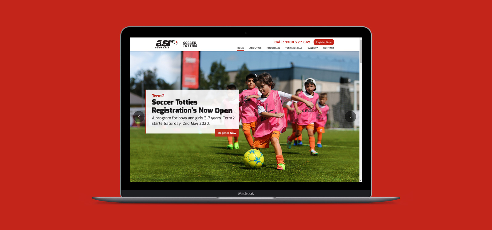 Web development for asr football