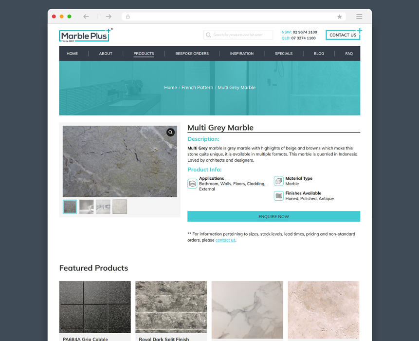 marble products banner