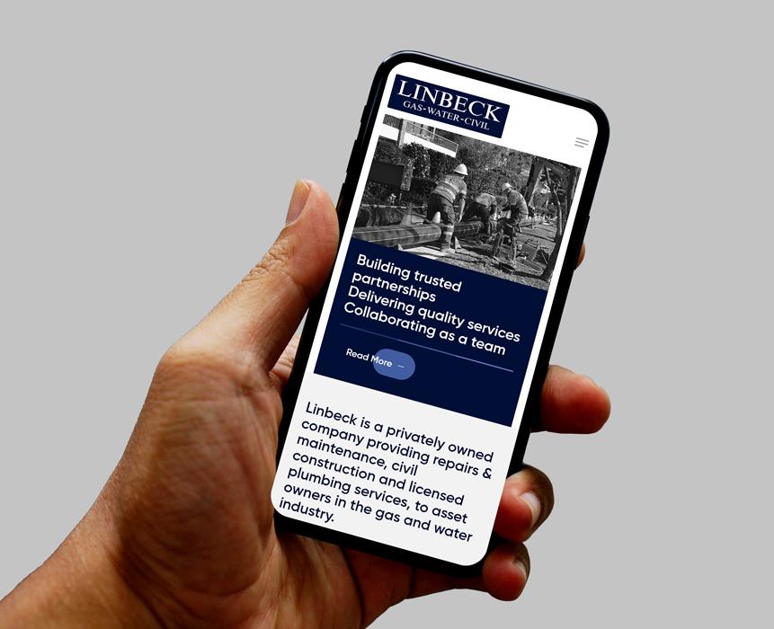 Web design for Linbeck