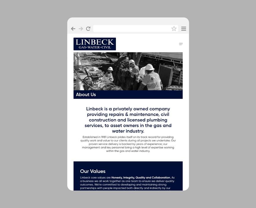Website design for Linbeck