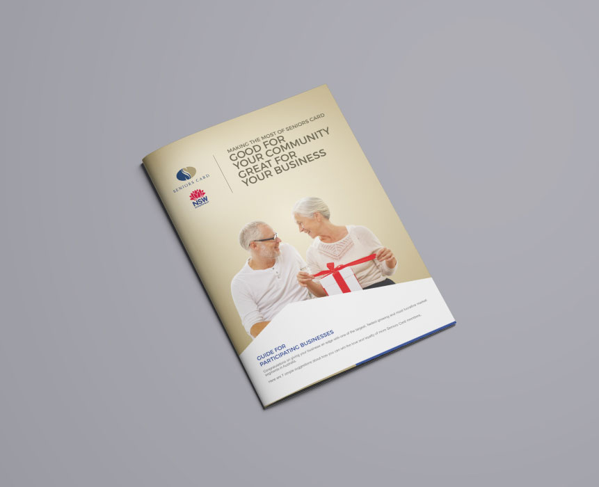 brochure design for NSW Seniors Card