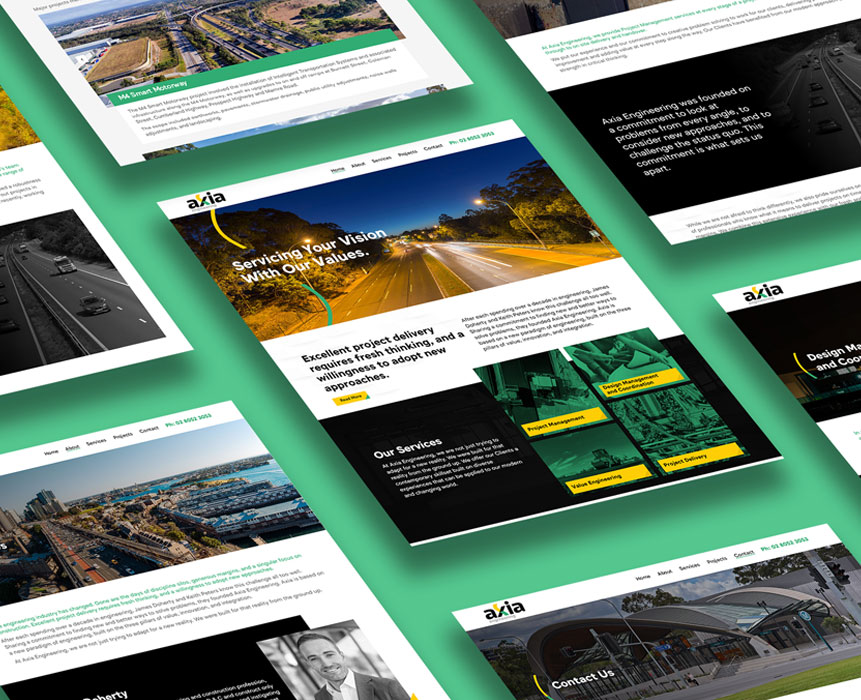 brochure design for axia