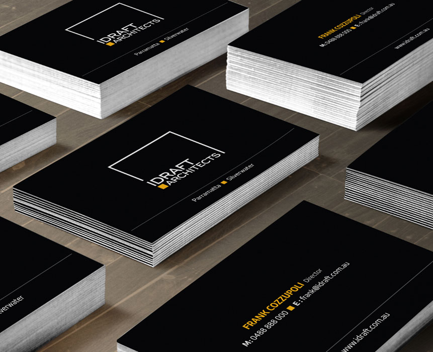 business card design for architect company
