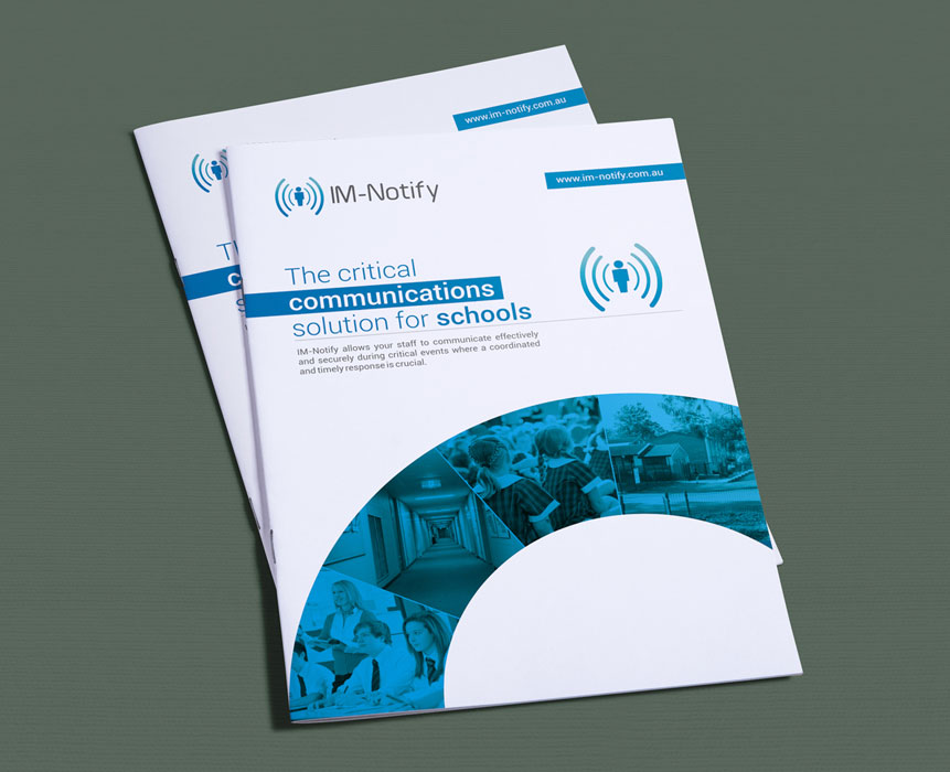 IM-Notify brochure design