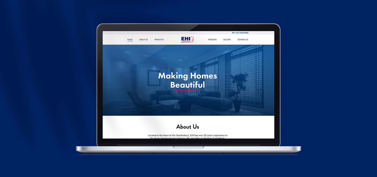 web design for EHI Hawkesbury