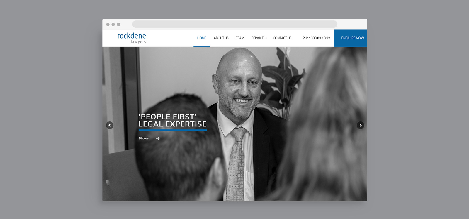 website development for Rockdene Lawyers